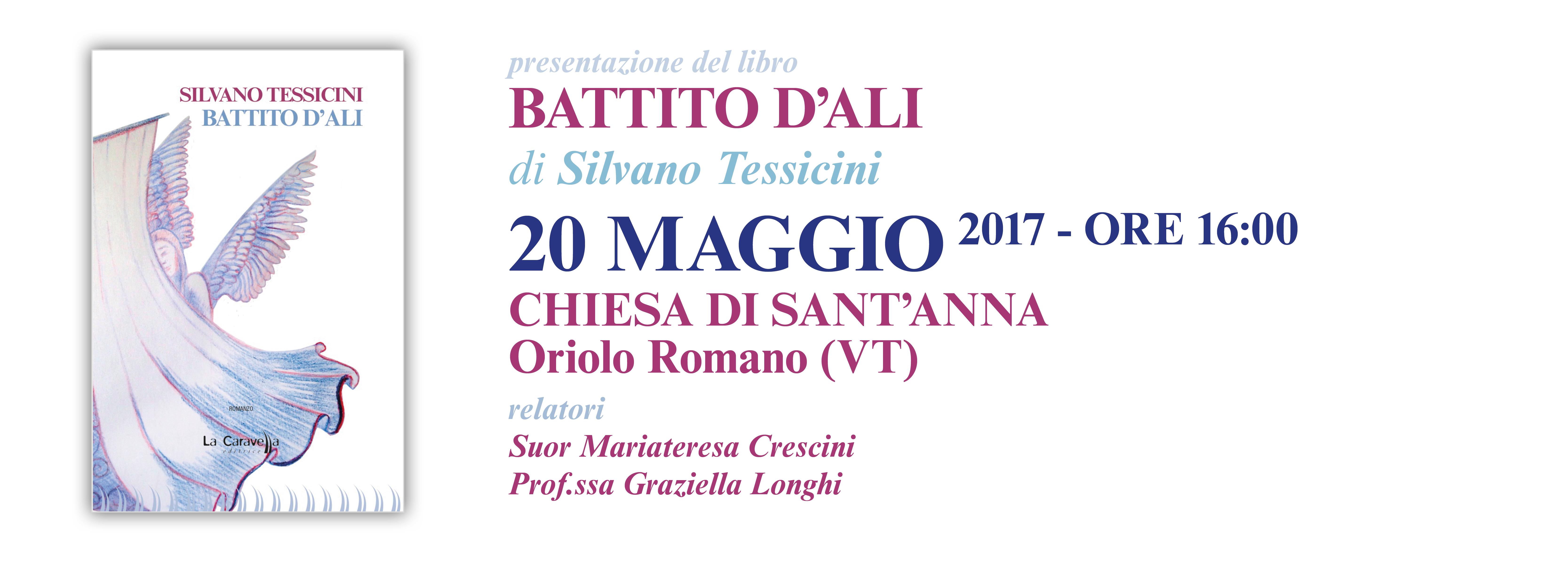 Presentazione del libro BATTITO D'ALI di Silvano Tessicini