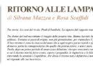 NUOVE USCITE: RITORNO ALLE LAMPARE di Silvana Mazzea e Rosa Scaffidi