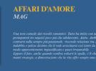 NUOVE USCITE: AFFARI D'AMORE di MAG