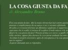 NUOVE USCITE: LA COSA GIUSTA DA FARE di Alessandro Bruno