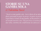 NUOVE USCITE: STORIE SU UNA GAMBA SOLA di Valentina Sassi
